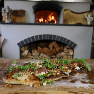 Flatbread with Ricotta, Figs, Parma Ham and Walnuts