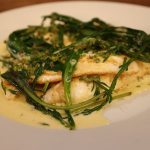 Pan Fried Fillets of Plaice with Sea Vegetables