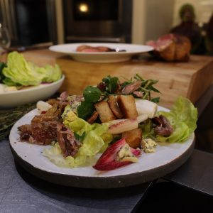 Duck Two Ways - Duck Confit Salad and Duck with Mulberry Sauce