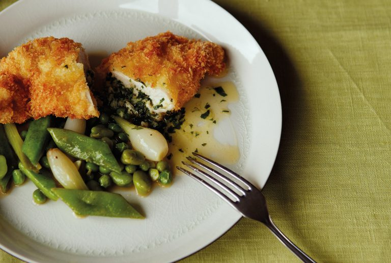 Classic Chicken Kiev With Bean Ragot James Martin Chef