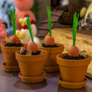 Chocolate Carrot Muffins served in Terracotta Pots