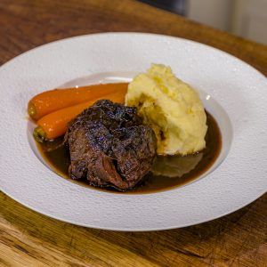 Beef Cheeks with Mash and Carrots