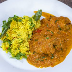 Partridge Curry with Pilaf Rice