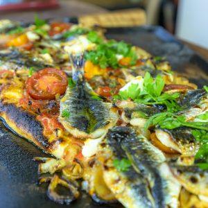 Flatbread with Sardines