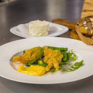 Cashew Truffle Cheese filled Courgette Flowers