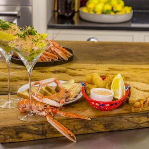 Crab cocktail with Scampi and Lemon Mayonnaise