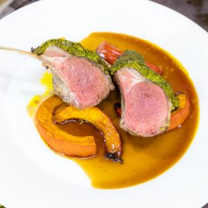 Herbed Lamb Rack with Squash