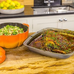 Lamb Shoulder Tagine with Herb Tabbouleh