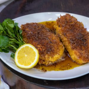 Halloumi Chicken Schnitzel