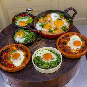 Baked Eggs - Two Ways