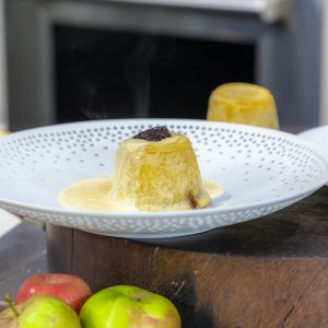 Apple Charlottes with Custard
