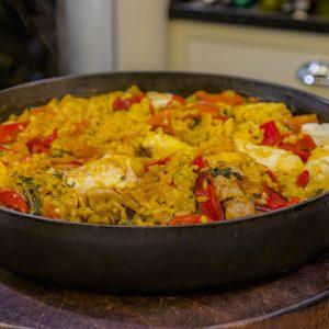 Monkfish and Chicken Paella