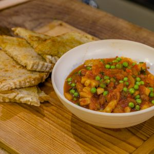 Braised Cuttlefish with Peas and Tomatoes