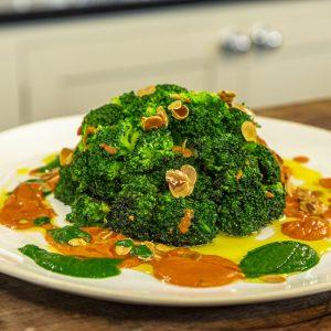 Sautéed Broccoli and Mojo Rojo