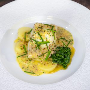 Smoked Haddock with Buttered Potatoes and Poached Egg