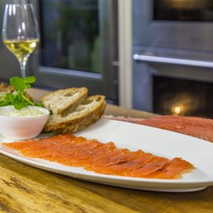 Whisky Cured Salmon with Mustard Mayo