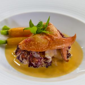 Aromatic Steamed Lobster with a Ginger Broth