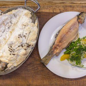 Salt Baked Trout with Fennel and Orange Salad