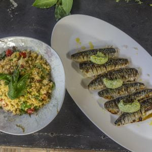 This beautiful recipe from top chef Paul Ainsworth is great for cooking on the grill. You can use fillets or whole mackerel for this recipe.