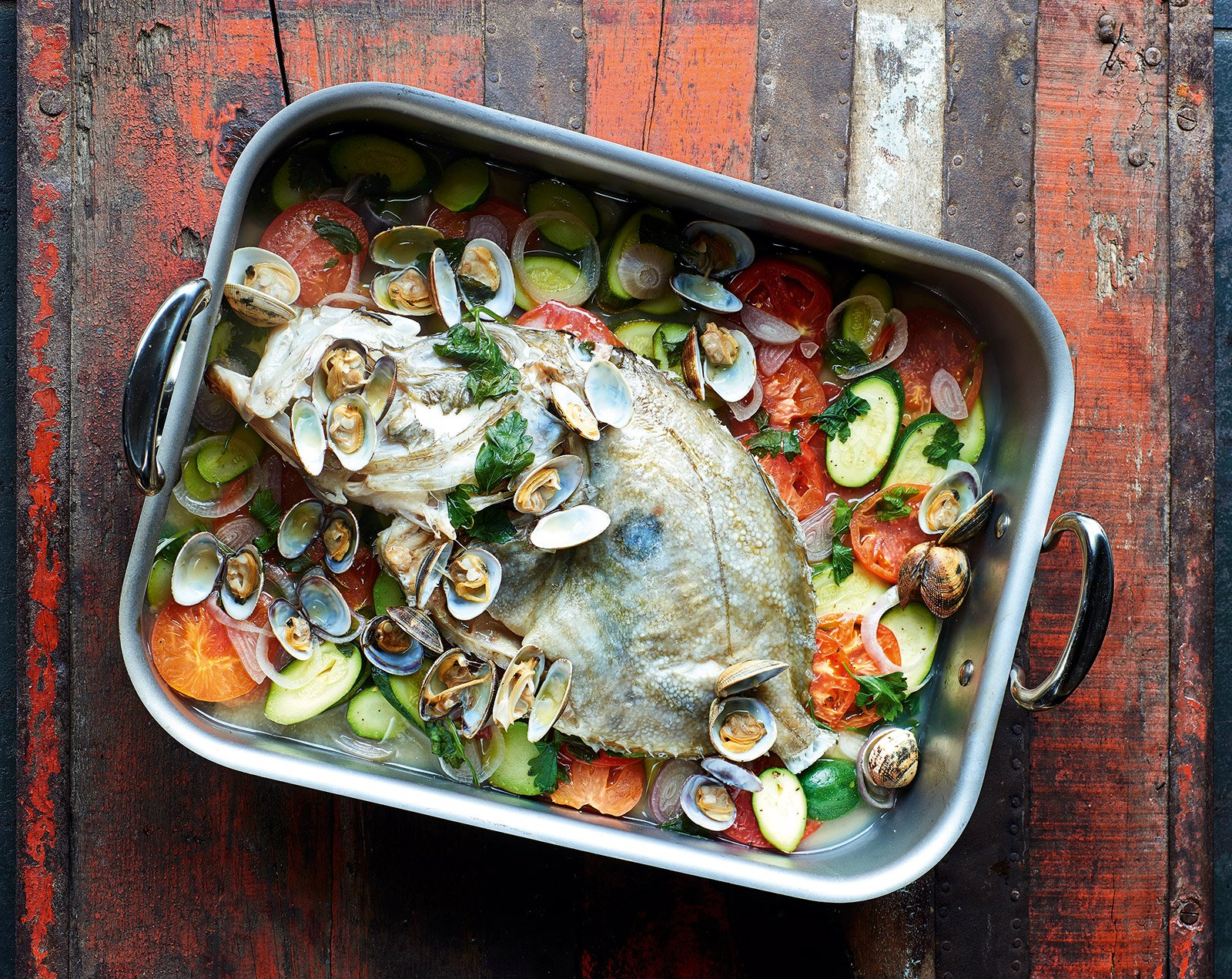 Whole John Dory With Clams Amp Courgettes James Martin Chef