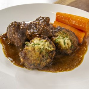 Beef Stew and Dumplings with Carrots