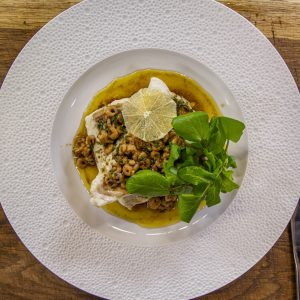 Brill with Shrimp Sauce