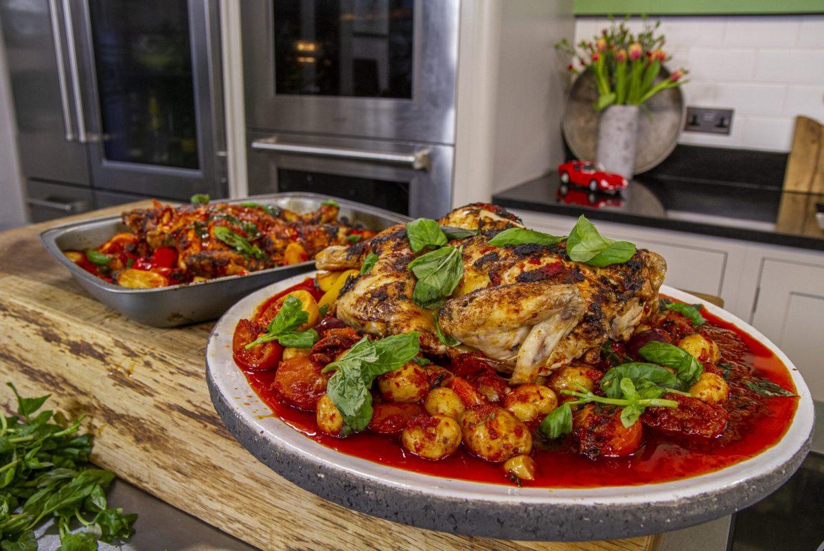 Spatchcocked Spanish chicken | James Martin Chef