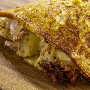 Cheese, Ham and Tomato Sarnie