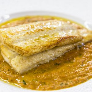Plaice with Butter Curry Sauce