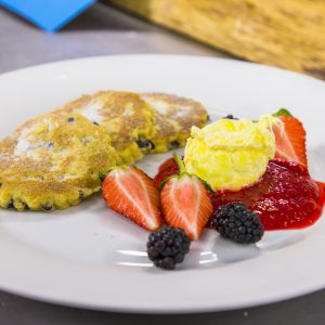 Welsh cakes with berries
