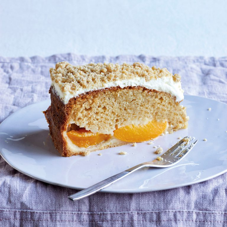 Peach And Cr 232 Me Fra 238 Che Crumble Cake James Martin Chef