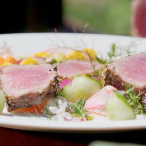 Seared Tuna with Kohlrabi