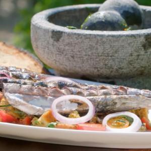 BBQ Mackerel with Panzanella Salad