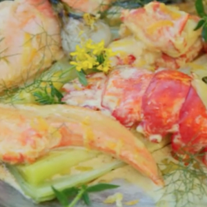 Lobster with Leeks, Turnip and Curry Cream