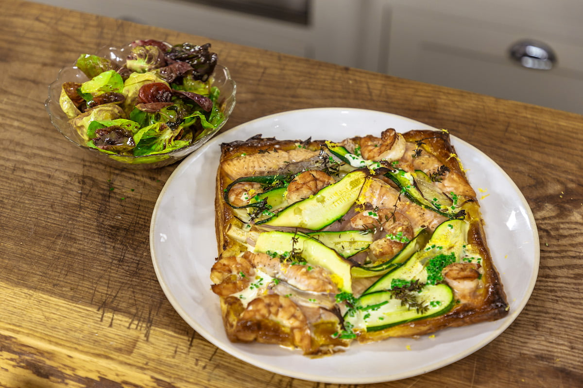 Salmon Prawn And Courgette Tart James Martin Chef
