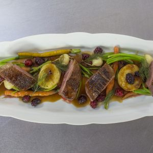 Spiced Duck with Madeira and Cherries
