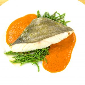 JOHN DORY WITH SAMPHIRE AND CHERRY TOMATOES