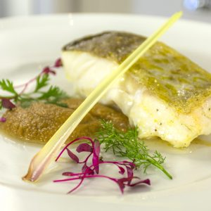 ROASTED COD WITH GINGER SAUCE
