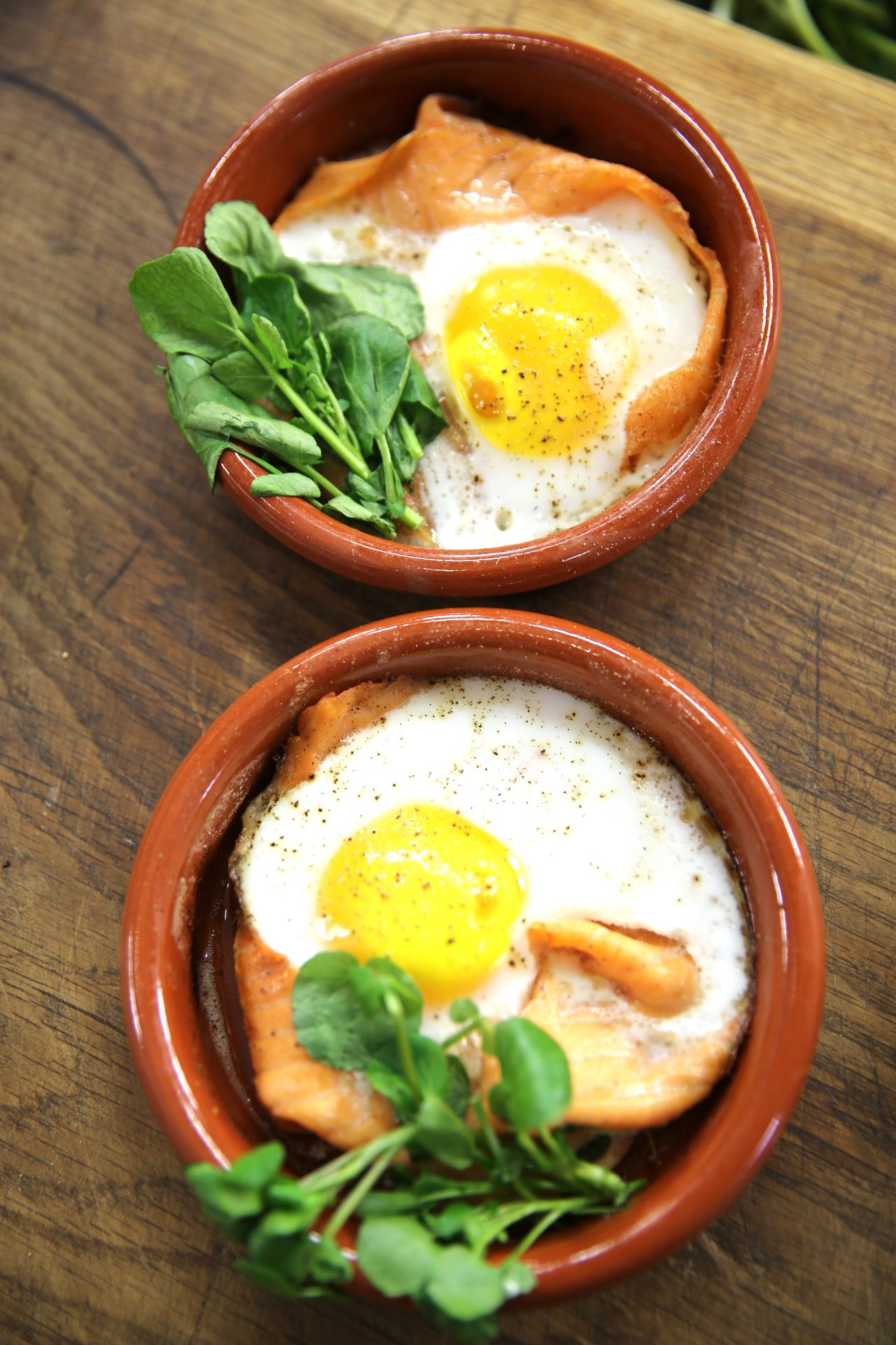 Baked Duck Eggs With Smoked Salmon And Herb Butter James Martin Chef