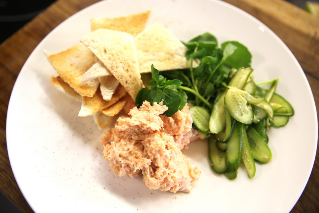 Smoked Salmon Mousse With Pickle And Melba Toast James