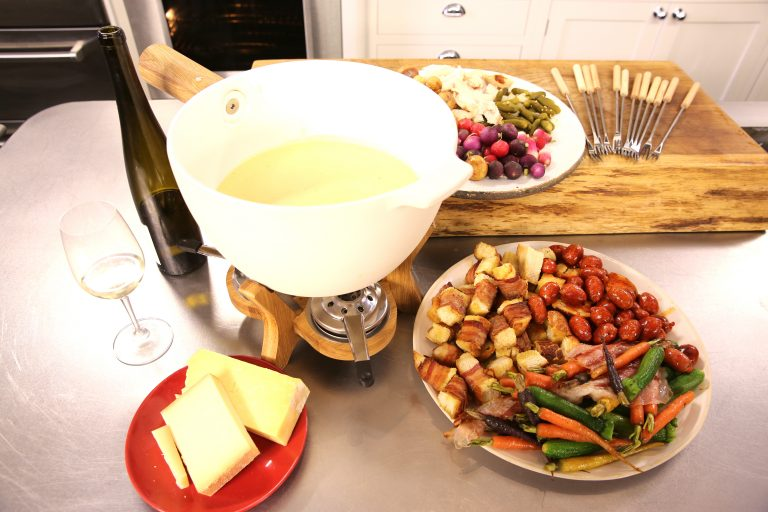 Warm Cheese Fondue with Christmas Nibbles | James Martin Chef