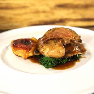 PARTRIDGE WITH QUINCE TART TATIN
