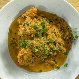 Tandoori Monkfish in tomato sauce