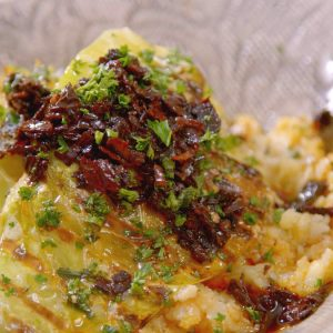 HISPI CABBAGE WITH ANCHO RELISH