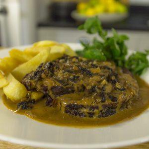 Sirloin Steak with Sauce Diane