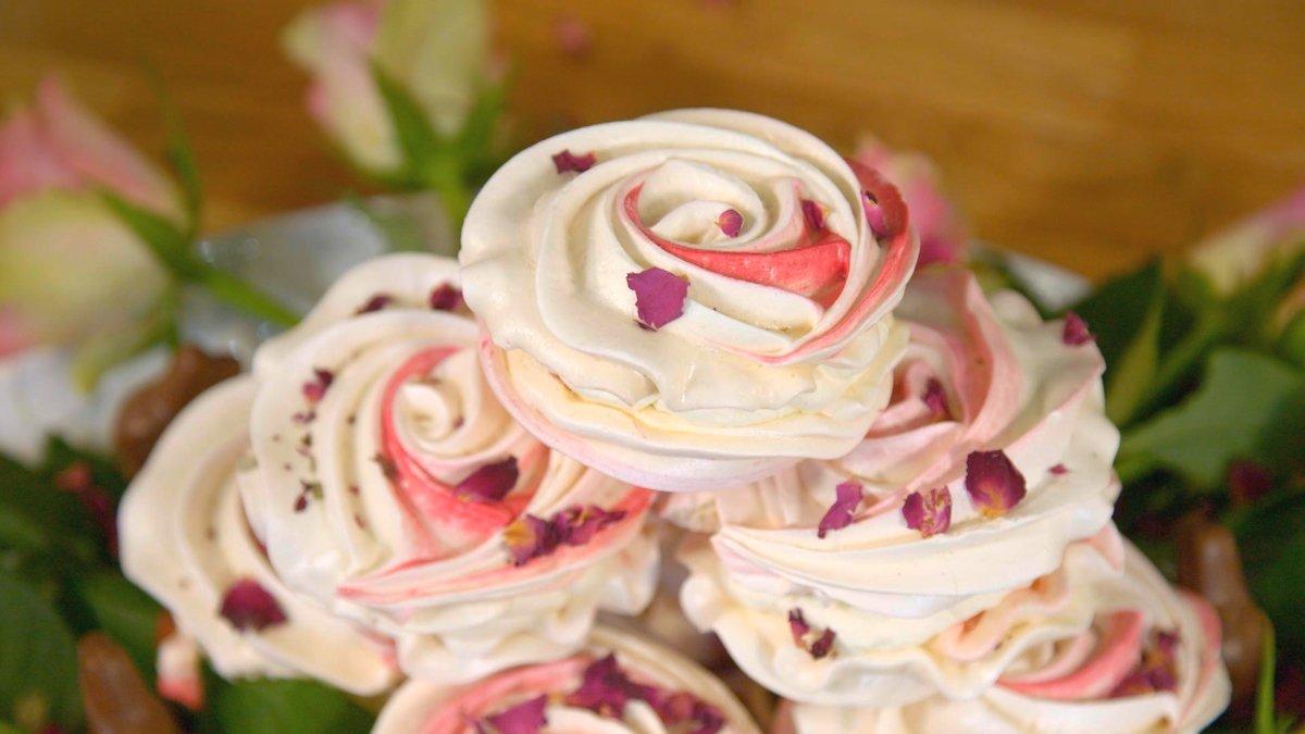 Emma Weymouth's Rose Meringues With Chocolate Ganache ...