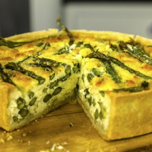 ASPARAGUS AND WENSLEYDALE TART