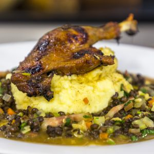 DUCK CONFIT WITH SPICED LENTILS