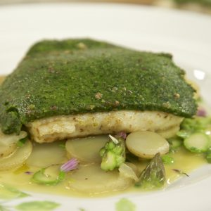 BRILL WITH A LOVEAGE CRUST