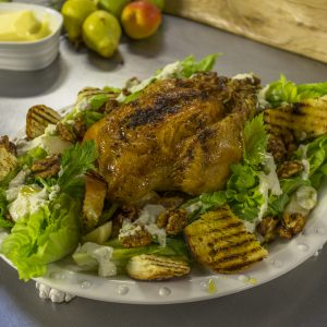 ROAST CHICKEN SALAD WITH BLUE CHEESE DRESSING
